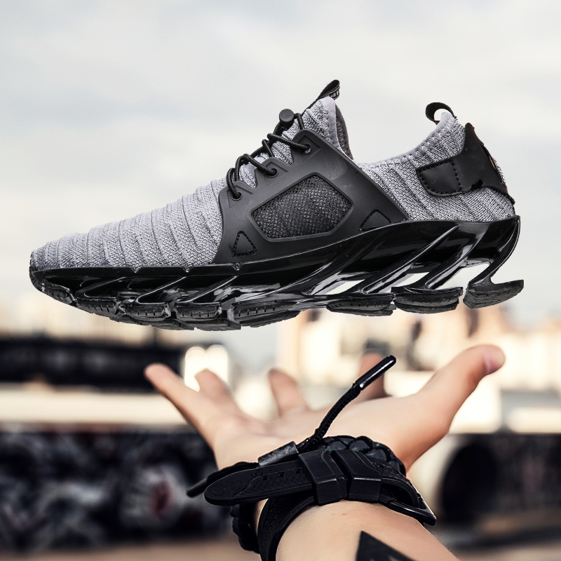 Outdoor sports shoes design blade Men running shoes Men sneakers Breathable cushioning sneakers men athletic shoes New size39-44<br>