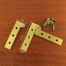 one pair offset stainless steel brass color pivot hinge(China)