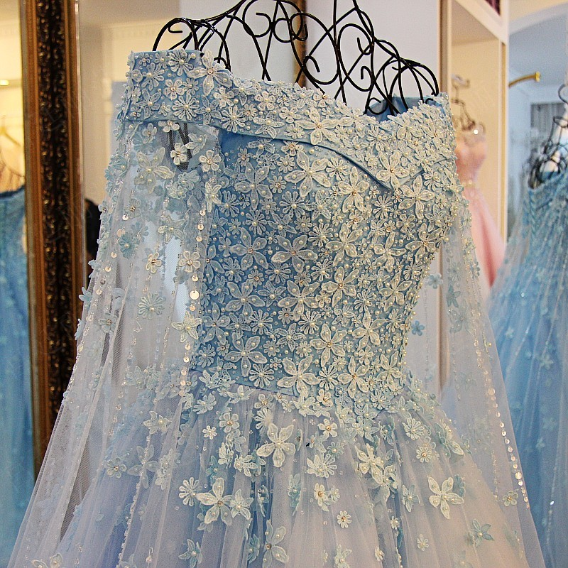 tiffany blue pearls flowers wedding dress