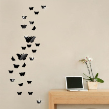 3D DIY Butterfly Mirror Wall Sticker Home Decor 25PCS/1Set