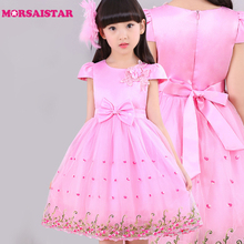 kids moana party dresses clothing verkleedkleren meisies kledina flower girls dress(China)