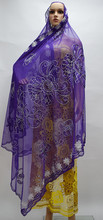 most popular hot selling purple brick embroidery French chiffon scarf, beach scarf, shawl lace fabric!16-3-28