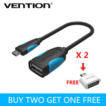 Vention Micro USB OTG Cable OTG Adapter for Samsung Galaxy S6 S4 HTC LG Sony Xiaomi Meizu Android mobile phone cables Tablet MP3