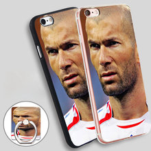 french football Zidane Soft TPU Silicone Phone Case Cover for iPhone 5 SE 5S 6 6S 7 Plus