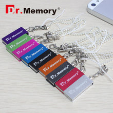 Dr.memory Mini Metal pendrive lovely usb flash drive 8 color Pen Drive 16G usb stick 4G 8G memory storage flash card with chain