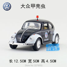 KINSMART Diecast Metal Model/1:32 Scale/1967 Volkswagen Classical Beetle (Police) Car/Pull Back Toy/Children's gift/collection