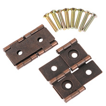 2Pcs Furniture Hinges Cabinet Drawer Jewellery Box Hinge Door Decorative Hinges Furniture Hardware 180 Degree Rotation 45*42mm