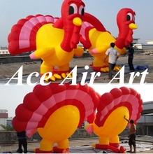 attractive giant 13ft double inflatable turkey decoration for advertising in Thanksgiving Day