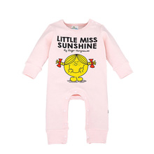 Cartoon Face Baby Rompers Cotton Jumpsuit Newborn Infant Clothing Long Sleeve Costume Little Miss Sunshine Next Baby Girl Outfit