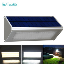 Solar Sensor Security Lamp 48 LEDs Highlight Garden Waterproof Solar Light By Radar Motion Outdoor Aluminum Street Light lampada