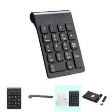 New Portable 2.4G Wireless Digital Keyboard USB Number Pad 18 Keys Mini Numeric Keypad For Laptop PC Notebook Desktop EM88(China)