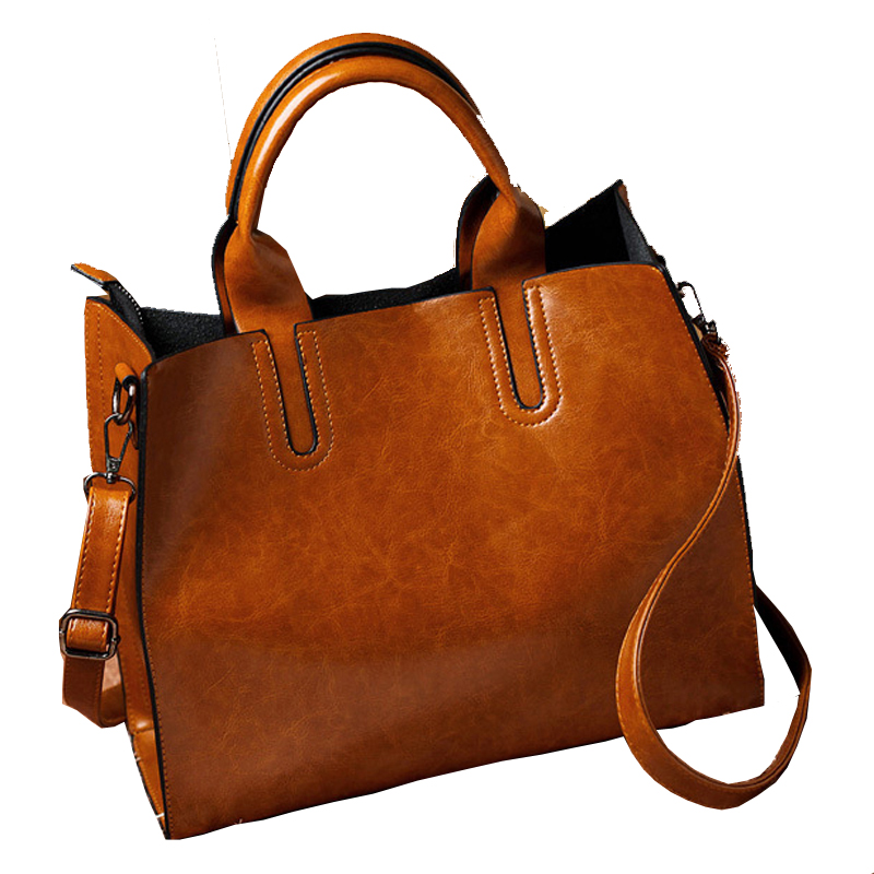 2016 Winter Fashion Women Leather Handbags/ High Quality Real Leather One Shoulder Bag/ Lady Casual Messenger Tote Bags<br>
