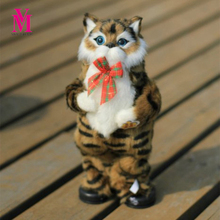 Vanmajor 30cm 1pc Cute Simulation Cat Electric Yellow Cat Singing And Dancing Cat Doll Gift Kids Interactive Toys