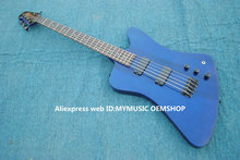 Wholesale Bass Guitars 5 Strings Thunderbrid Electric Bass In Blue High Quality From China(China)