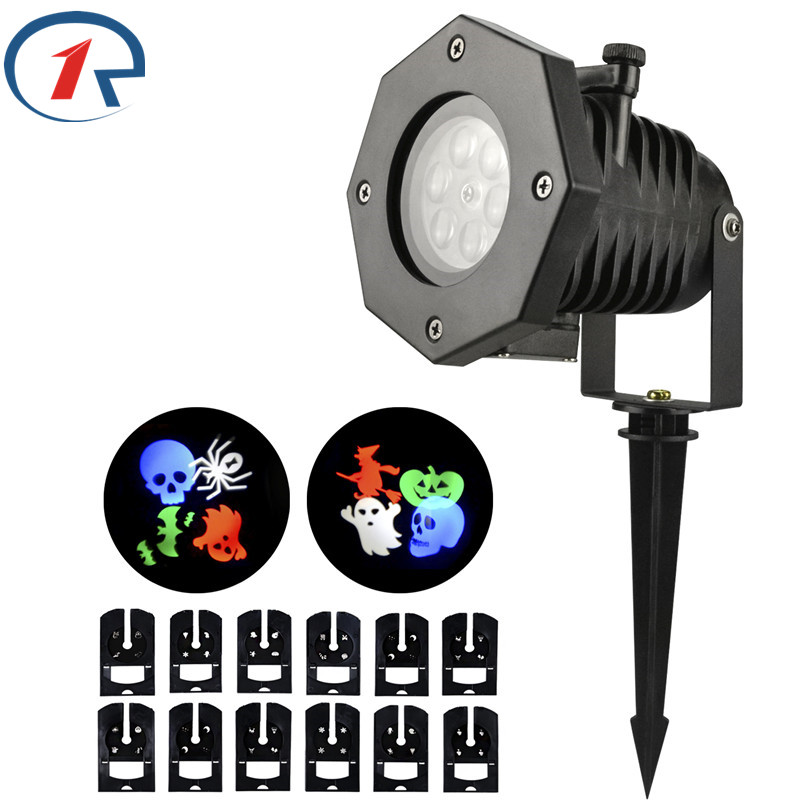 ZjRight 12 Pattern RGBW LED stage light Outdoor garden projection LED light dj Halloween Christmas birthday party effect light<br>
