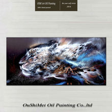 Hand-painted Tiger Oil Painting on Canvas Large Animal wall art pictures for living room the decoration for the house
