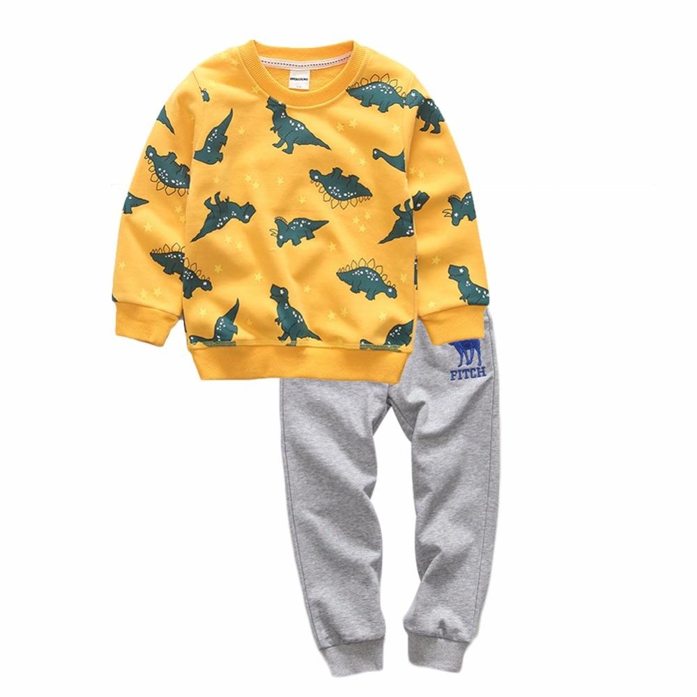 BINIDUCKLING 2017 Baby Boys Sets Autumn Children set  Boys Sets Clothes hoodies+Pants sports Letter printed Set Children Suit<br>