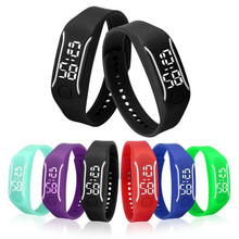 New 2017 amazing wonderful practical and  Fashionable LED Sports Running Watch Date Rubber Bracelet Digital Wrist Watch /