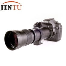 Buy JINTU 420-800mm F/8.3-16 Super Telephoto Manual Zoom Lens +T2-CANON T Mount Ring Adapter Canon EOS EF EF-S SLR DSLR Camera for $99.98 in AliExpress store