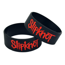 1PC Slipknot Wristband Rubber Silicone Bracelet Cuff Punk Rock Rubber Band Power Men Bracelet Fashion Jewelry Gift