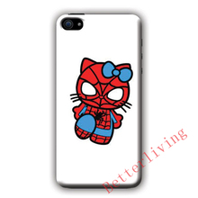 Spiderman Hello Kitty fashion cell phone case cover for iphone iphone 4 4s 5 5s 5c SE 6 6s plus 7 plus #X712