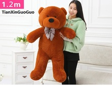 fillings toy dark brown Teddy bear plush toy stuffed bear large 120cm soft doll throw pillow Christmas gift b2800(China)