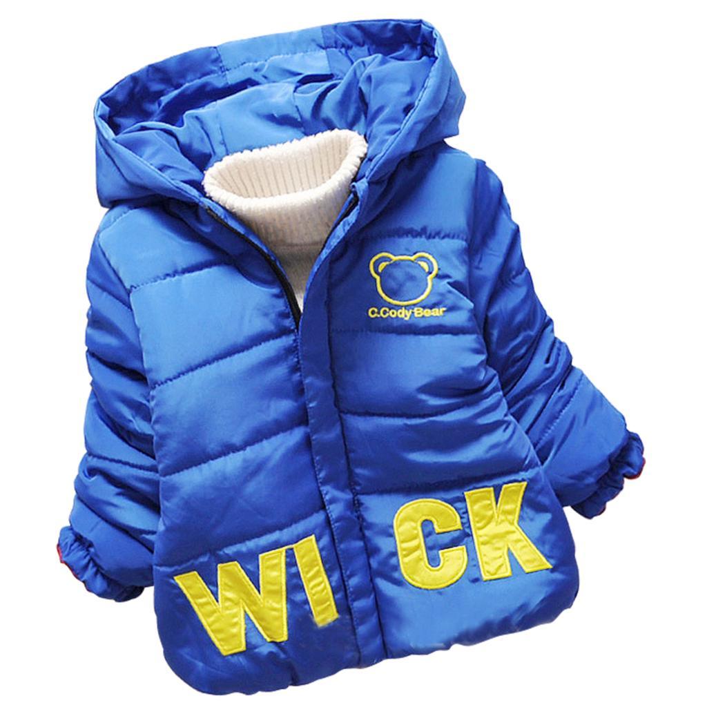 Hot sale kids print bear children thick warm coat hooded new autumn winter girls Korean baby clothes fleece jackets Xmas Gifts Одежда и ак�е��уары<br><br><br>Aliexpress