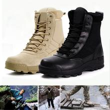 2017 New Military Tactical Combat Outdoor Sport Army Men Boots Desert Botas Hiking Autumn Shoes Travel Leather Male High Boots