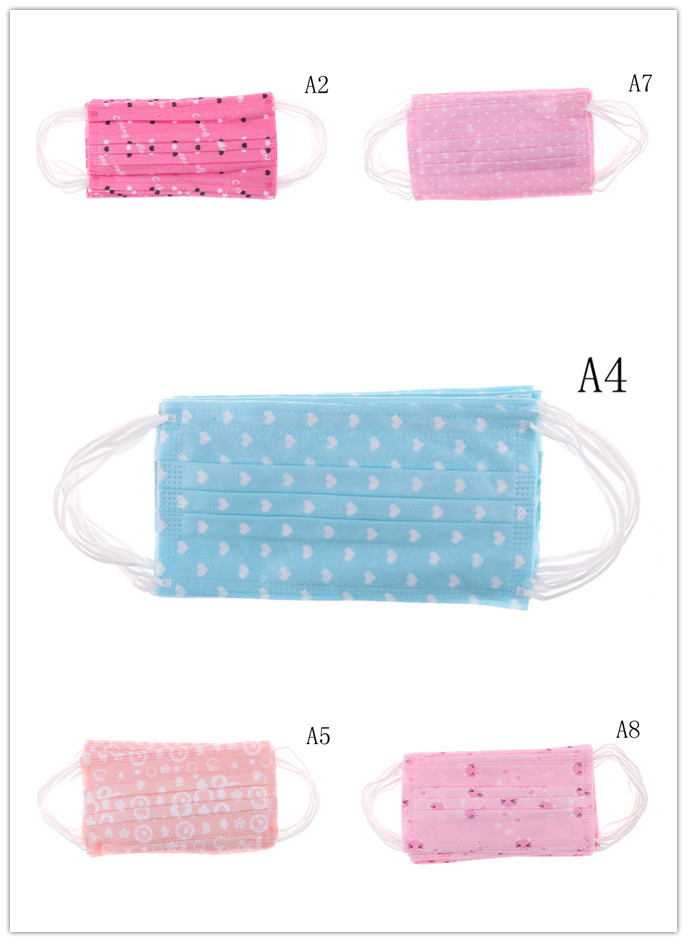 10pcs Non Woven Disposable Face Mask Candy Salon Dust Proff Ear Loop Medical Mouth Full 5 Style Hot Sale