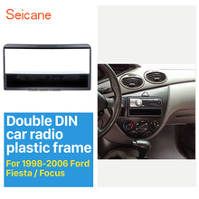 1Din Car Radio Fascia for 1998-2006 Ford Fiesta Focus Auto Stereo Adapter Car-styling DVD Frame Trim Panel Installation Seicane