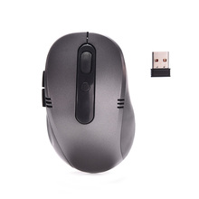 1PC Portable 1000DPI Optical Wireless Mouse USB Receiver RF 2.4G For Desktop & Laptop PC Compute Peripherals Accessories