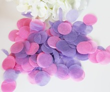 Lilac hot pink wedding tissue paper confetti sweet 16th birhtday party table decorations biodegradable