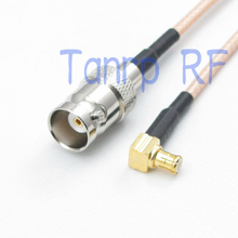 6in BNC female jack to MCX male right angle RF adapter connector 15CM Pigtail coaxial jumper cable RG316
