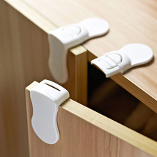 5pcs/lot Baby Drawers Safety Lock Convenient Functional Child Kids Door Fridge Safety Lock Toilet Closet Plastic Lock