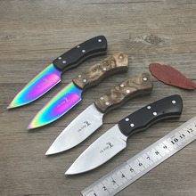 High Quality hunting knifes wood handle camping survival tactical fixed knife hunting Straight knife mini EDC tool(China)