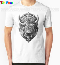 2017 Rushed Sale O-neck Cotton Knitted Print No Teeplaza Make Your Own T Shirt Bison Fashion Short Shirts For Men(China)