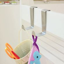 Over Door Hook Stainless Kitchen Cabinet Clothes Hangers Organizer Holders Tools