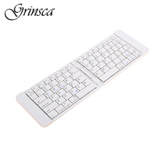 Hot Sale Ultra Light Mini Bluetooth Folding Keyboard Touchpad with Two Layers