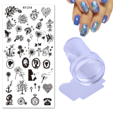 3pcs Nail Stamping Plates Sets 12x6cm Dandelion Dream Catcher Steel Templates 2.3cm Clear Jelly Silicone Stamper Scraper TR182(China)