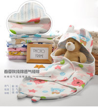 Baby Sleep Sack Cotton Warm Baby Sleeping Bag for Stroller Newborn Swaddle Blanket With Rabbit Pattern Baby Bedding Accessories(China)