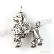 On Sale 30pcs/lot Cute Dog Alloy Antique Silver Plated Jewelry Finding Fit Jewerly DIY 22*16*8mm 142873