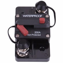 200A Car RV Marine Boat Fuse Holders Waterproof Circuit Breaker with Manual Reset Button Fuse Inverter(China)
