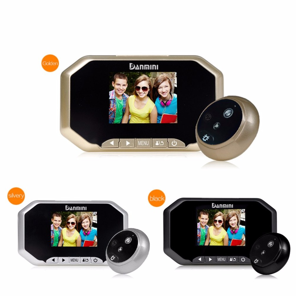 Danmini YB-30AHD 3.0 TFT LCD Screen 1.3MP Camera Night Vision Wide Angle HD Security Camera Digital Door Peephole Viewer<br>
