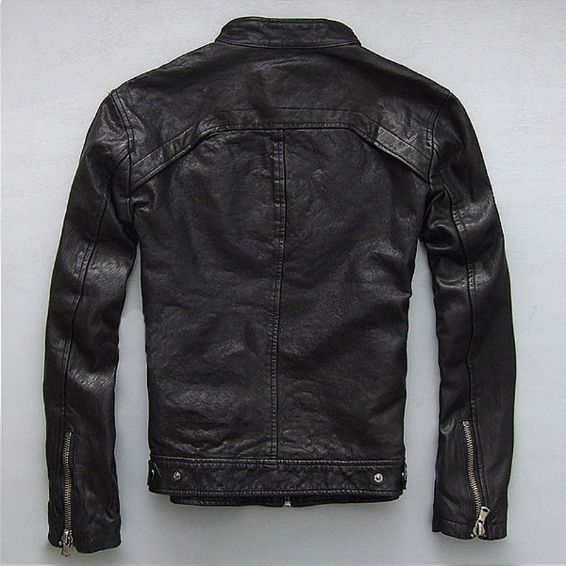 Factory-Men-Leather-Jacket-Genuine-Real-Sheep-Goat-Skin-Brand-Black-Male-Bomber-Motorcycle-Biker-Man(1)