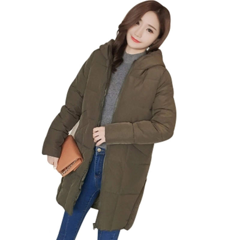 Fashion Snow Wear Hooded Ladies Coats 2017 Winter Coat Women Parka Long Thick Slim Womens Coats And Jackets Outerwear RE0066Îäåæäà è àêñåññóàðû<br><br>