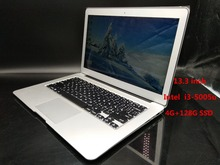 Free Shipping Flashlight keyboard 13.3 Inch notebook Laptop Aluminum Metal Case I3 1.4Ghz  4GB/128GB SSD 7000mAh computer