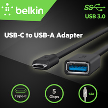 5Gbps Belkin Original USB 3.0 USB-C to USB-A Adapter Charge Cable for New MacBook Pro for Type-C USB HUB with Package F2CU036