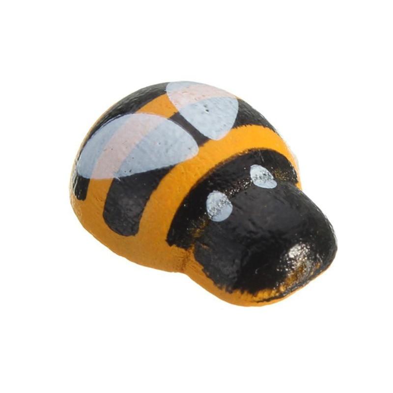 13mm de Madera Madera de Abeja Pegatinas Nevera 3D Arte Decoración de pared Animal Amarillo 100 un