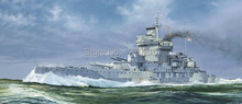 Trumpeter model 05795 1/700 HMS Warspite 1942 plastic model kit(China)