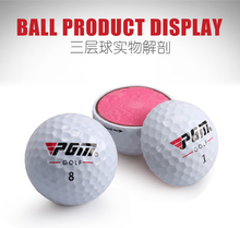 Hot!Original PGM Golf Ball Three-layer Match Ball Gift Box Package Golf Ball Set 12pcs Set 3pcs Set Game Use Ball,Free shipping(China)